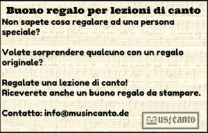 buono regalo vocal coaching